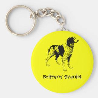Brittany Spaniel Basic Round Button Keychain