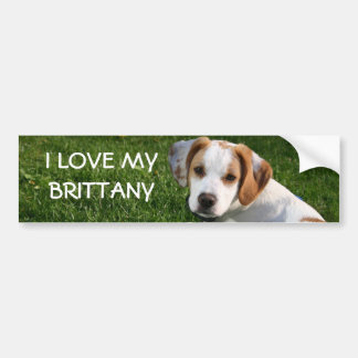 Brittany Spaniel Bumper Sticker, I LOVE MY BRIT... Bumper Sticker