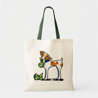 Brittany Spaniel Camouflage Boots Canvas Bag