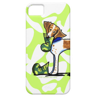 Brittany Spaniel Camouflage Boots iPhone SE/5/5s Case