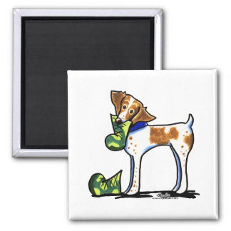 Brittany Spaniel Camouflage Boots Magnet