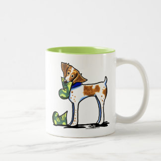 Brittany Spaniel Camouflage Boots Coffee Mugs