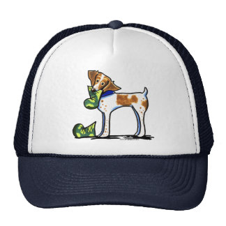 Brittany Spaniel Camouflage Boots Trucker Hat
