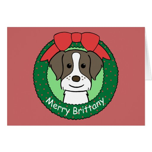 Brittany Spaniel Christmas Card