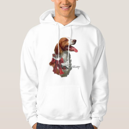 Brittany Spaniel Christmas Gifts Hoodie