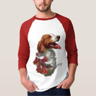 Brittany Spaniel Christmas Gifts T Shirt