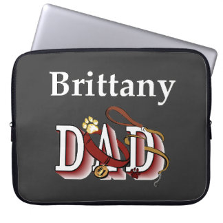 Brittany Spaniel Dad Laptop Sleeve