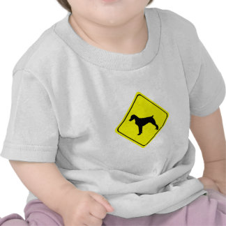 Brittany Spaniel Dog Caution or Crossing Sign T-shirt