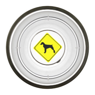 Brittany Spaniel Dog Caution or Crossing Sign Pet Bowl