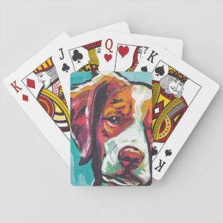 Brittany spaniel Dog fun bright pop art Poker Deck