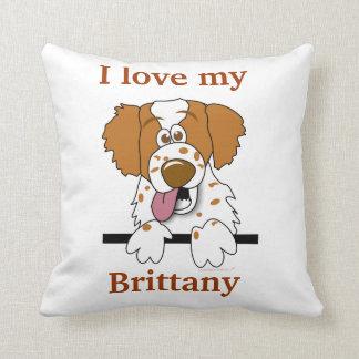 Brittany Spaniel Dog Home Decor Pillow I Love My