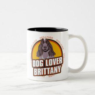 Brittany Spaniel Dog Lover Two-Tone Coffee Mug