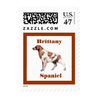 Brittany Spaniel Dog Postage Stamp