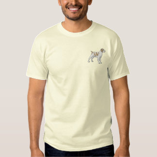 Brittany Spaniel Embroidered T-Shirt
