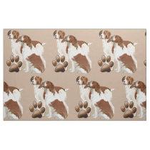 Brittany Spaniel fabric
