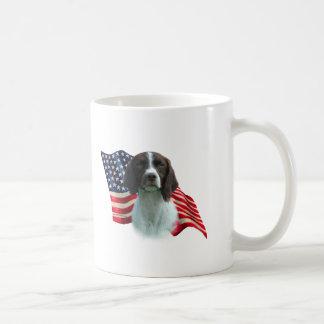 Brittany Spaniel Flag Classic White Coffee Mug
