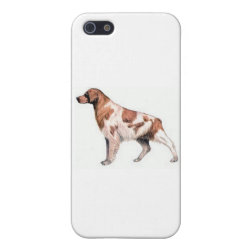 Case Savvy iPhone 5 Matte Finish Case with Brittany Spaniel Phone Cases design