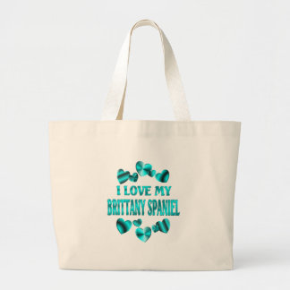 BRITTANY SPANIEL Love Tote Bags