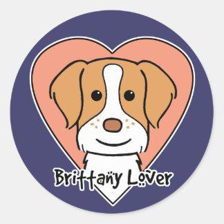 Brittany Spaniel Lover Classic Round Sticker