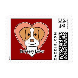Brittany Spaniel Lover Postage Stamp
