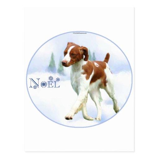 Brittany Spaniel Noel Post Cards