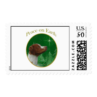 Brittany Spaniel Peace Postage
