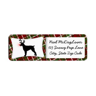 Brittany Spaniel Reindeer Christmas label