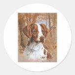 Brittany Spaniel Round Stickers