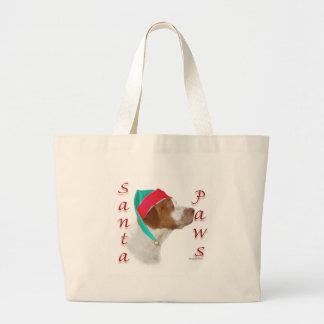 Brittany Spaniel Santa Paws Bag