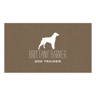 Brittany Spaniel Silhouette Business Card Templates