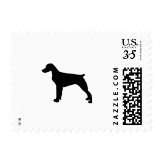 Brittany Spaniel Silhouette Love Dogs Silhouette Postage