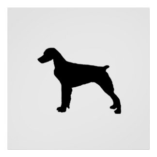 Brittany Spaniel Silhouette Love Dogs Silhouette Poster