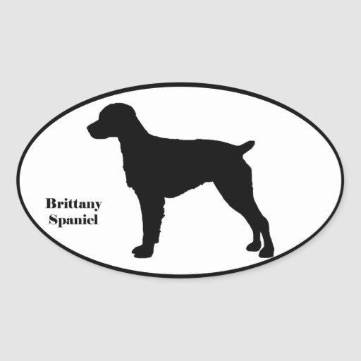 Brittany Spaniel SIlhouette Stickers