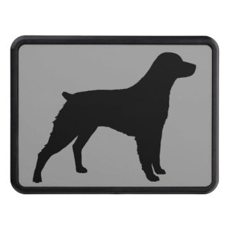 Brittany Spaniel Silhouette Tow Hitch Cover