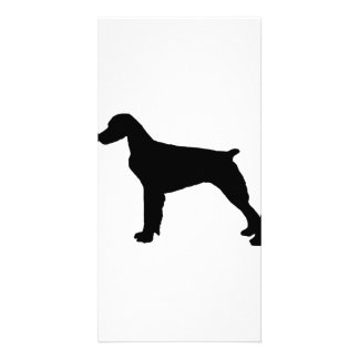 Brittany Spaniel sporting hunting dog Silhouette Card