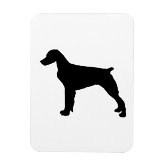 Brittany Spaniel sporting hunting dog Silhouette Vinyl Magnet