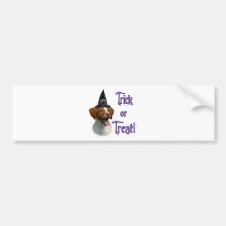 Brittany Spaniel Trick Bumper Sticker