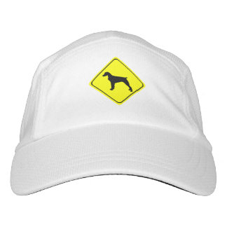 Brittany Spaniel Warning Sign Love Dogs Silhouette Hat