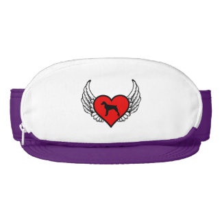 Brittany Spaniel Winged Heart Love Dogs Silhouette Visor
