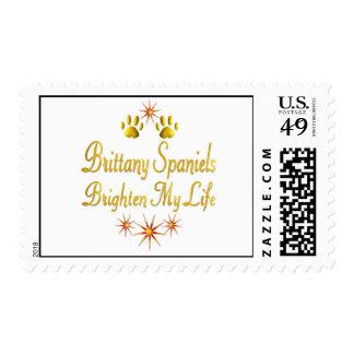 Brittany Spaniels Brighten My Life Postage