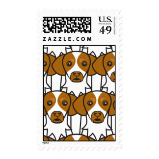 Brittany Spaniels Stamps