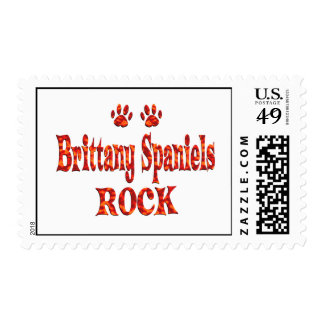 Brittany Spaniels Rock Postage