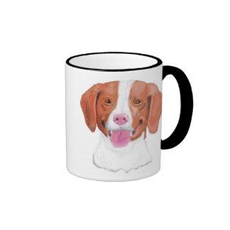 Brittany Spaniels, Shedding Joy... Ringer Coffee Mug