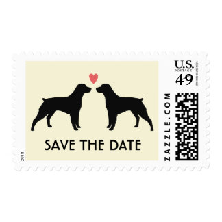 Brittany Spaniels Wedding Save the Date Postage