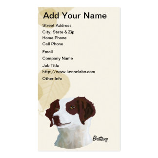 Brittany Tan Leaves Motiff Business Card Template