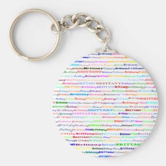 Brittany Text Design II Keychain