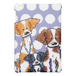 Case Savvy iPad Mini Glossy Finish Case with Brittany Spaniel Phone Cases design
