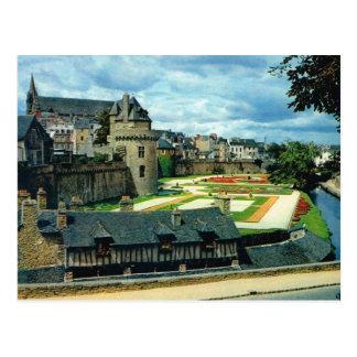 Brittany, Vannes castle, Postcard