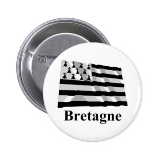 Brittany Waving Flag with Name in French Buttons