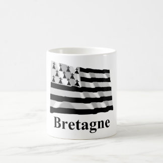 Brittany Waving Flag with Name in French Coffee Mug